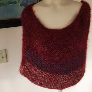 One of a Kind Art Mohair/Wool chunky knit scarf